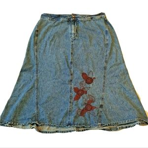 CJ Banks Denim Skirt A Line Size 16W Fits 14W 14